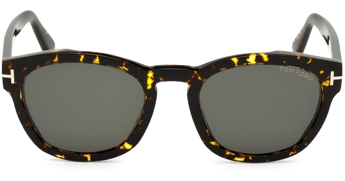 3a2e71f485 Tom Ford 51mm Bryan Round Tortoise Shell Sunglasses in Brown for Men - Lyst