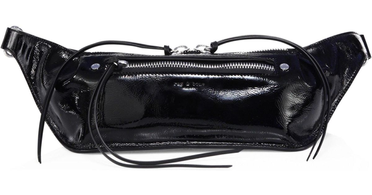 479165a28fc Rag & Bone - Black Small Patent Leather Fanny Pack - Lyst