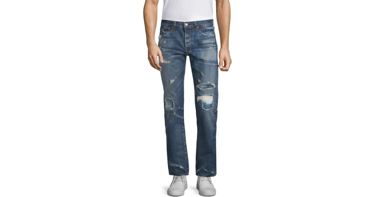 813e9ed1 Levi's 501 Original Fit Distressed Jeans in Blue for Men - Lyst