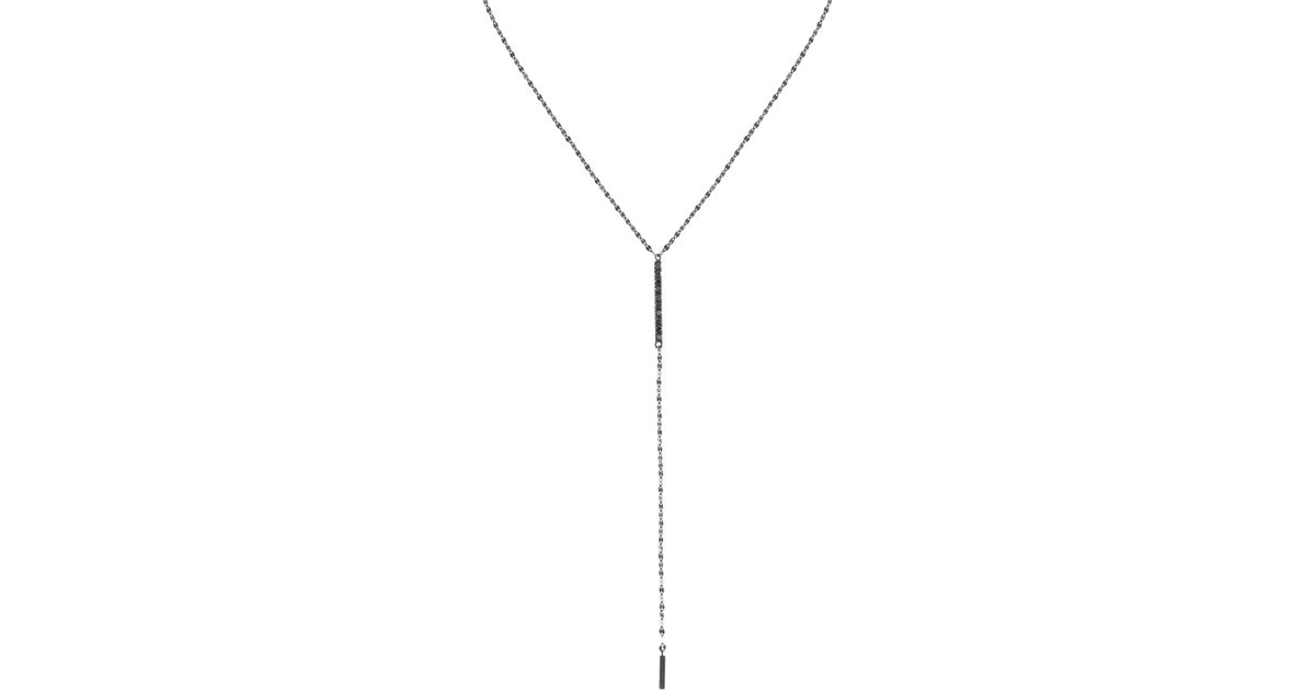 Lana Jewelry Reckless Solo Choker Necklace in 14k Rose Gold with Black Diamonds aw0a6Q
