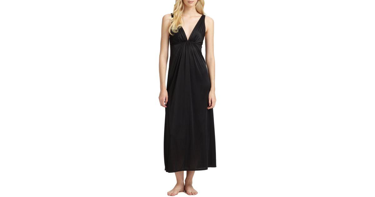 Lyst - Natori Aphrodite Gown in Black