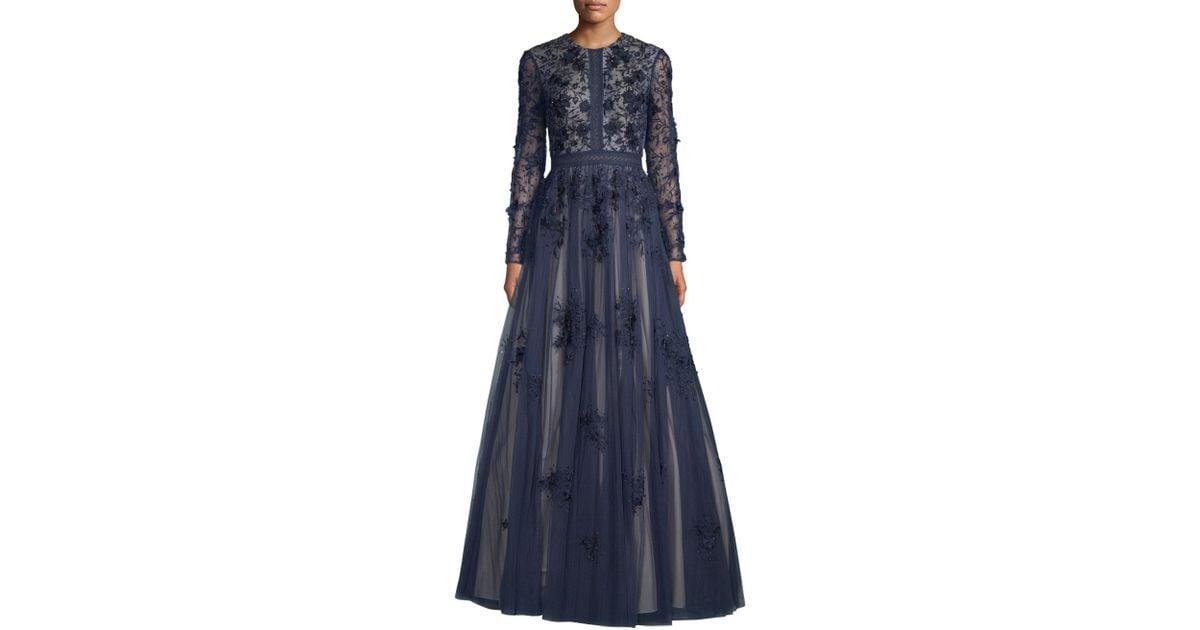 Black Long Sleeve A-Line Dress