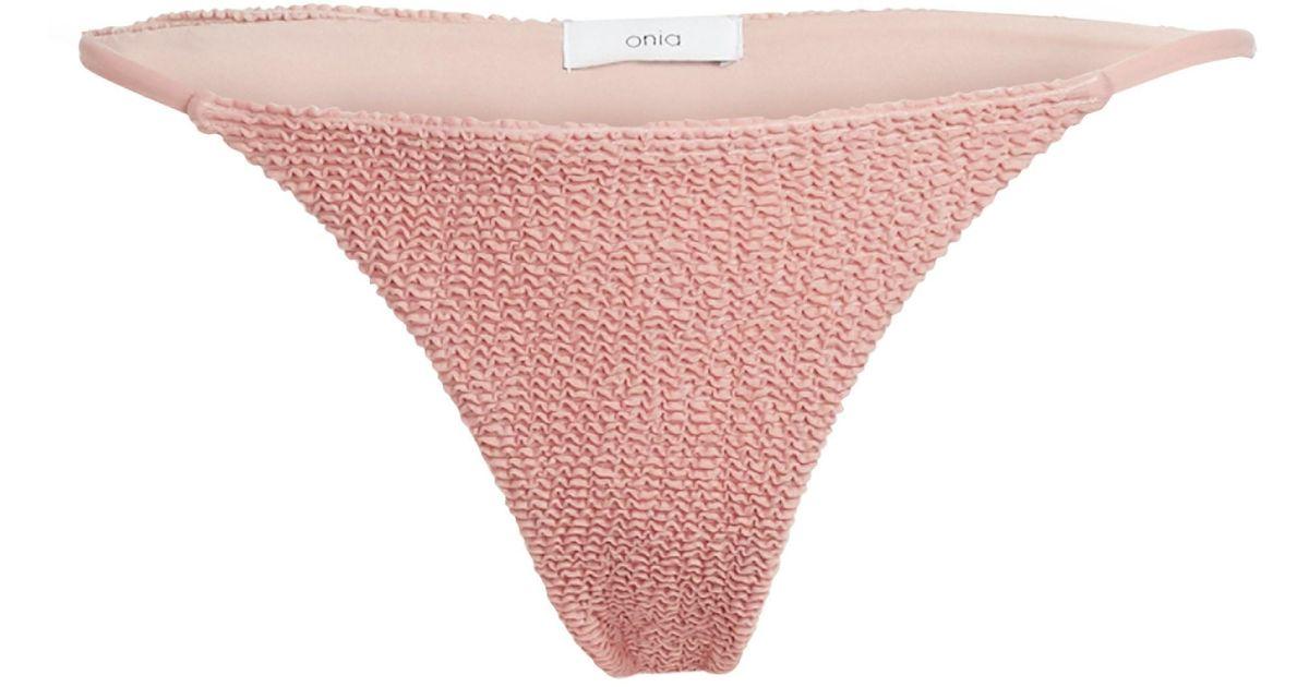 Low cut bikini bottoms