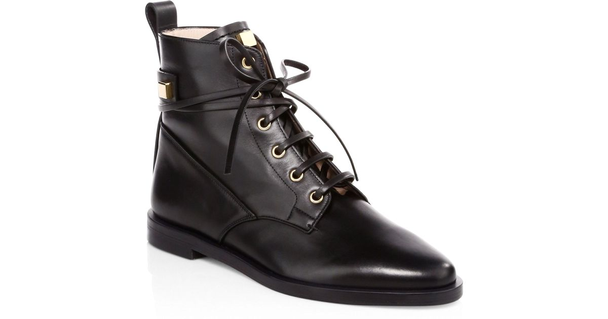 Stuart Weitzman Ryder Leather Boots in