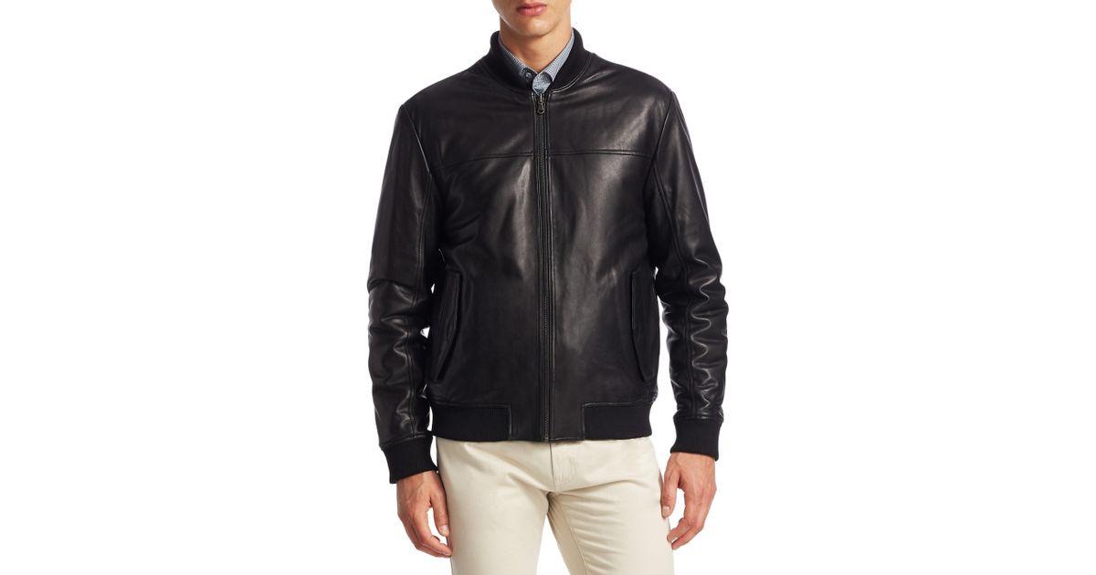 67eb78433 Saks Fifth Avenue Black Collection Reversible Varsity Jacket for men