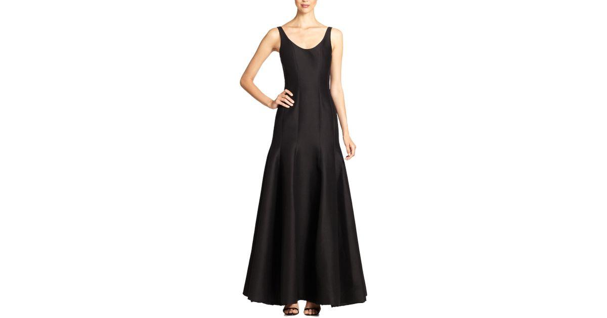 Lyst - Halston Heritage Faille Tulip Gown in Black