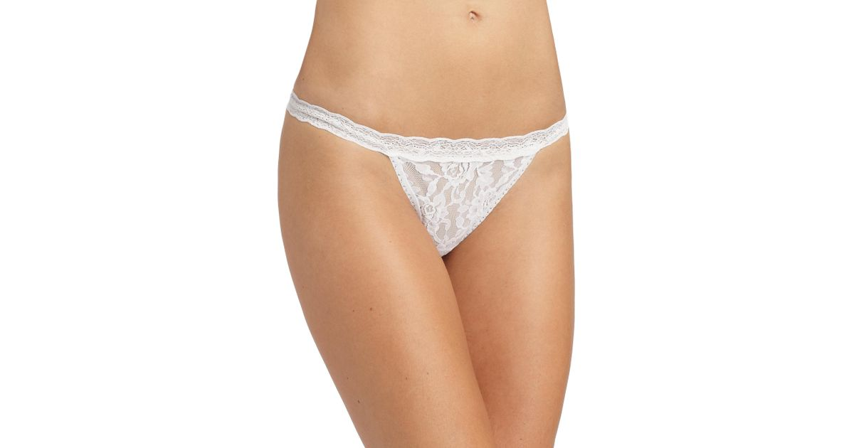 e2ef01f7b Hanky Panky Signature Lace G-string in White - Lyst