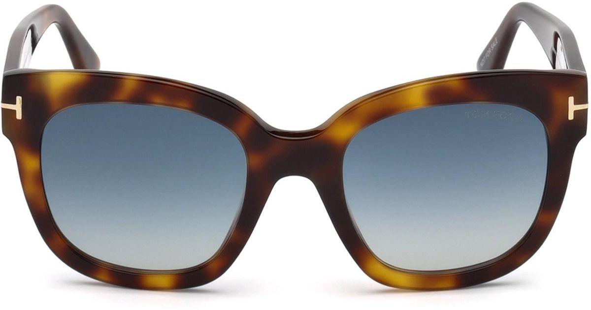 05fdd8aee7 Lyst - Tom Ford Women s 50mm Beatrix Square Sunglasses - Havana Blue in Blue