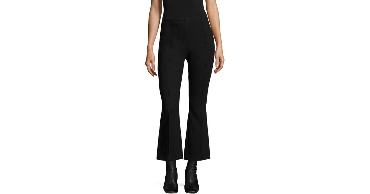 823472f93ae392 Helmut Lang Cropped Scuba Flare Pants in Black - Save 31% - Lyst