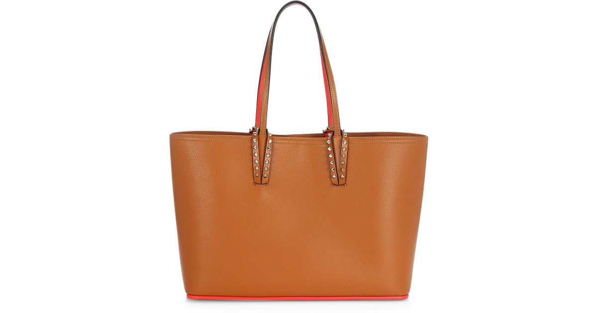 354a58c9403a Lyst - Christian Louboutin Small Cabata Leather Tote in Brown