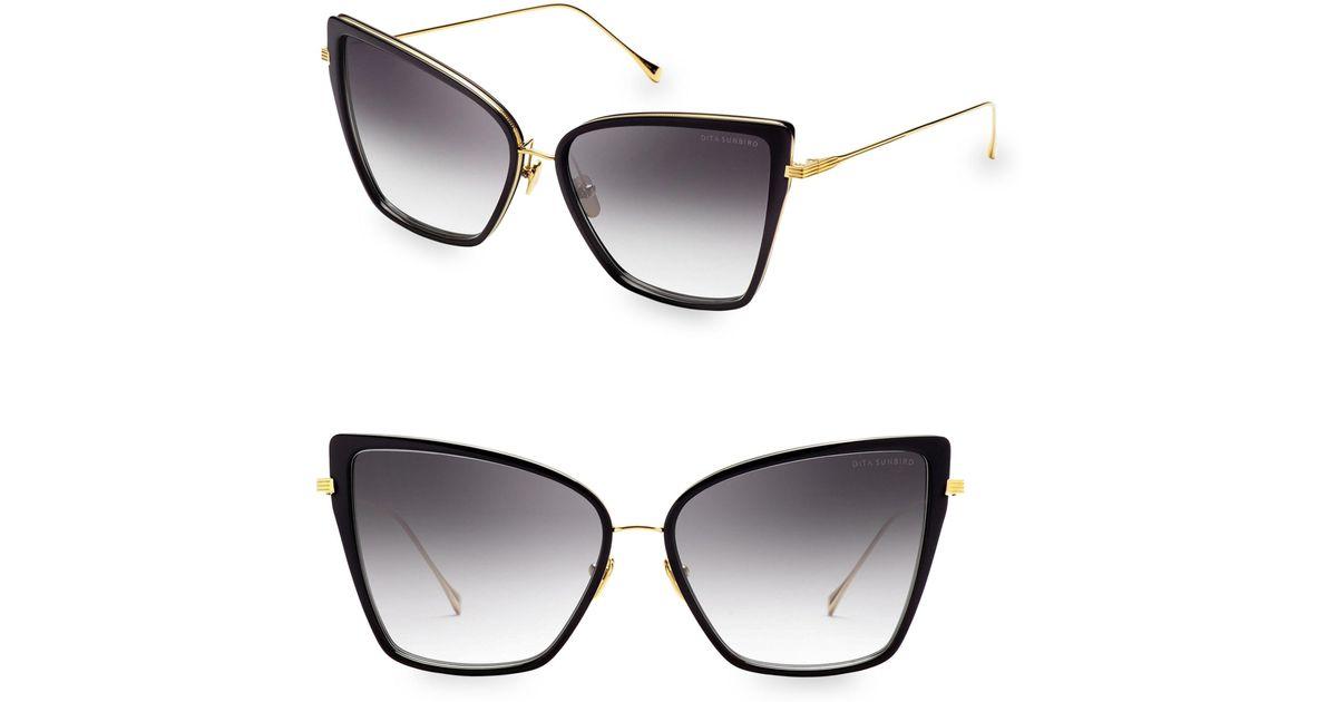 ad91f0a7cfba Dita Eyewear 59mm Sunbird Cat-eye Sunglasses in Black - Lyst