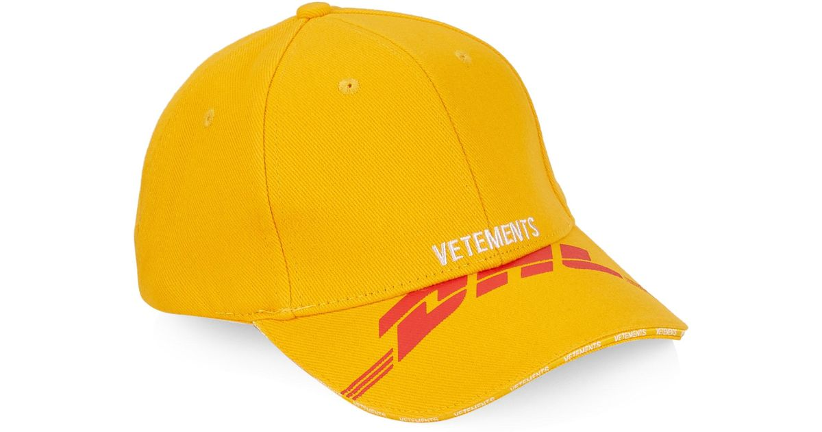 8b8fefbd4e2d86 Vetements X Dhl Baseball Cap in Yellow for Men - Lyst