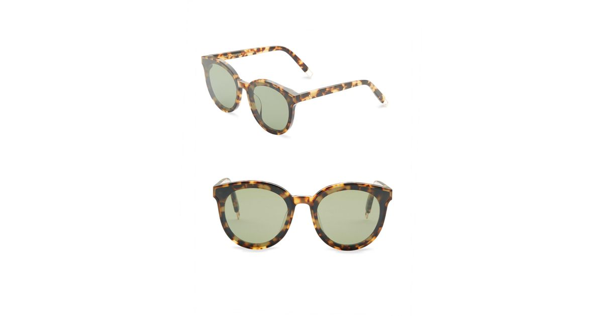 62c8191a99fc4 Lyst - Gentle Monster Women s 64mm Round Sunglasses - Tortoise