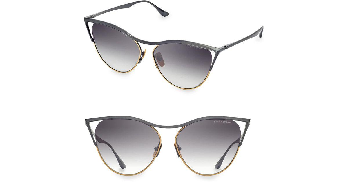 3f20d99bdbb0 Lyst - Dita Eyewear Women s Revoir 59mm Cat-eye Sunglasses - Grey in Gray
