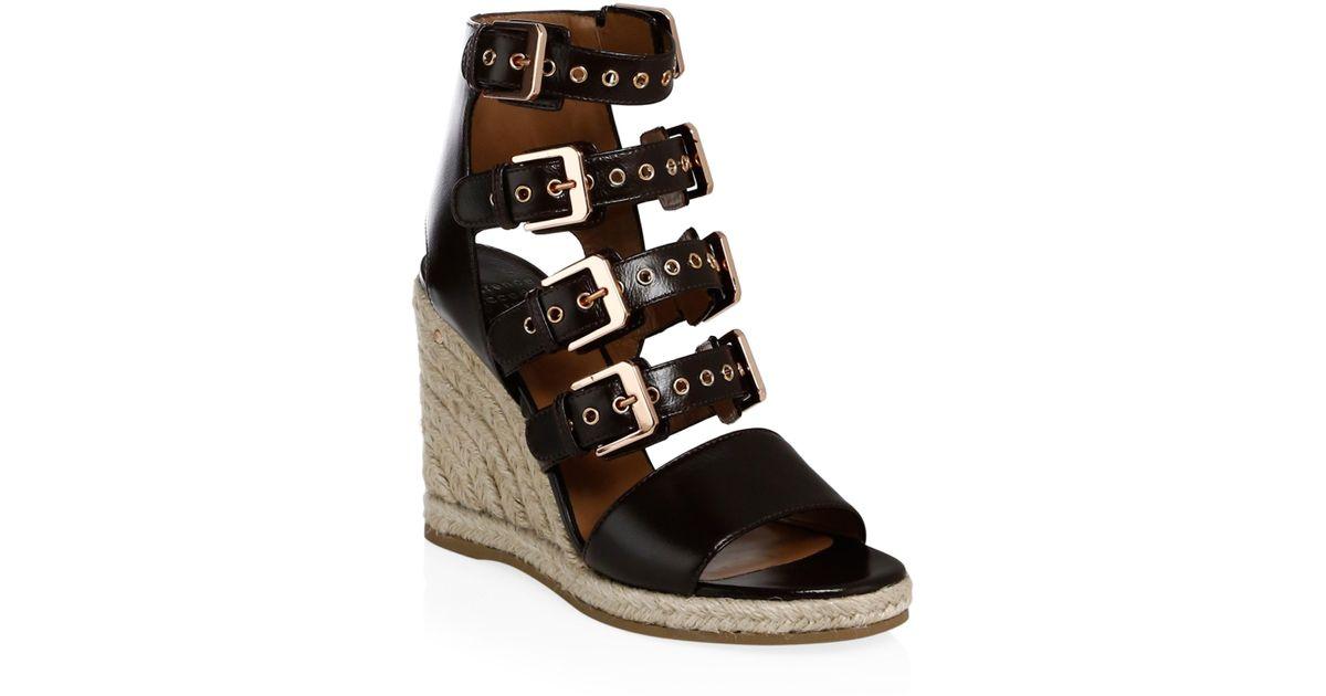 LAURENCE DACADE Buckled wedge heel sandals DYl6PuOFd