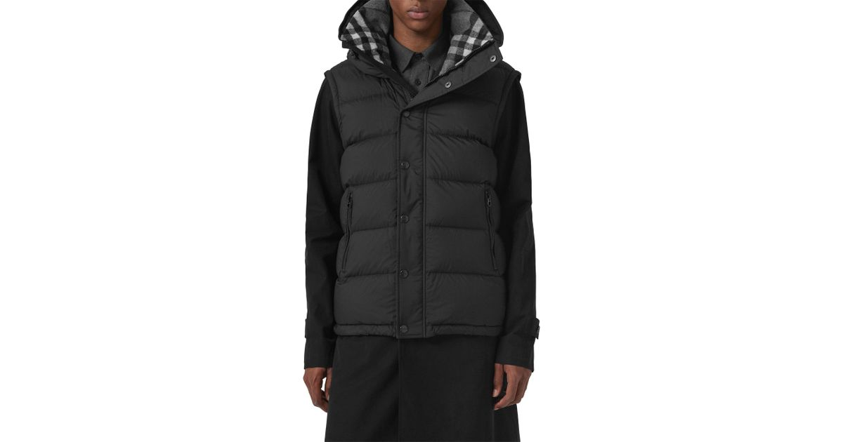 cc651f117c86 Lyst - Burberry Men s Hartley Hooded Down Puffer Coat - Black - Size 36 in  Black for Men
