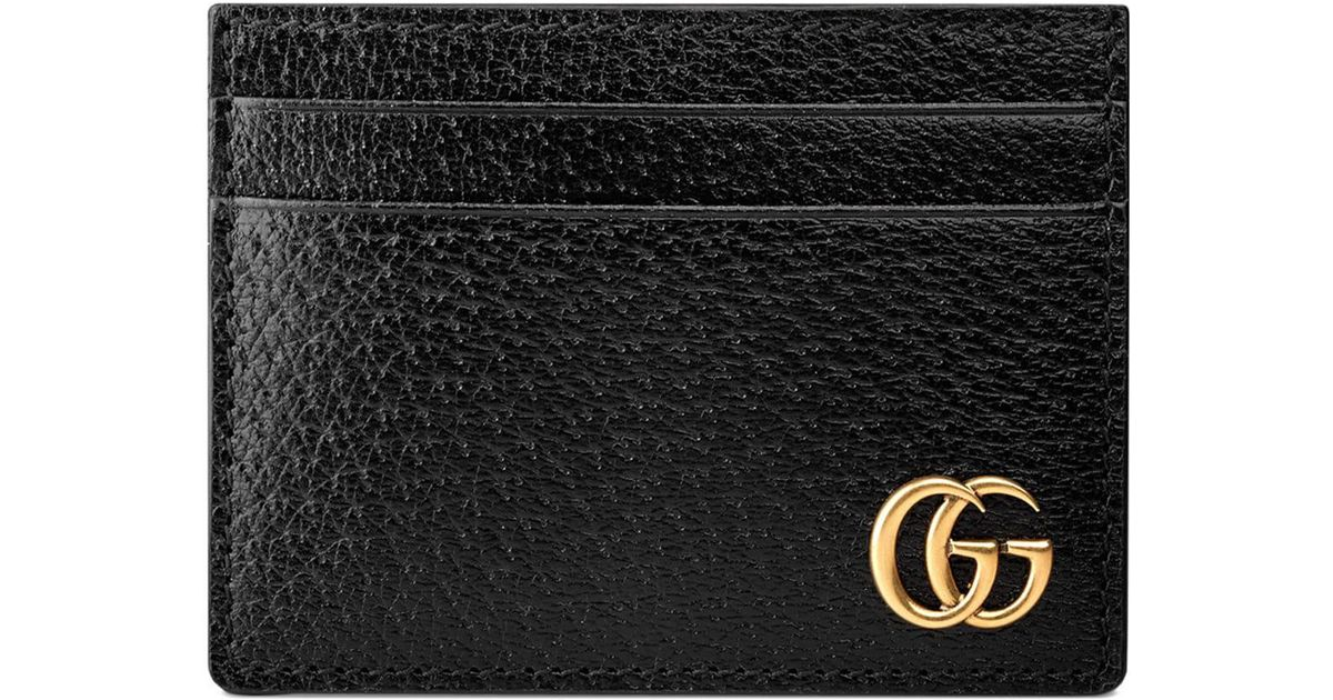 876000c15 Gucci GG Marmont Leather Money Clip in Black for Men - Save 6% - Lyst