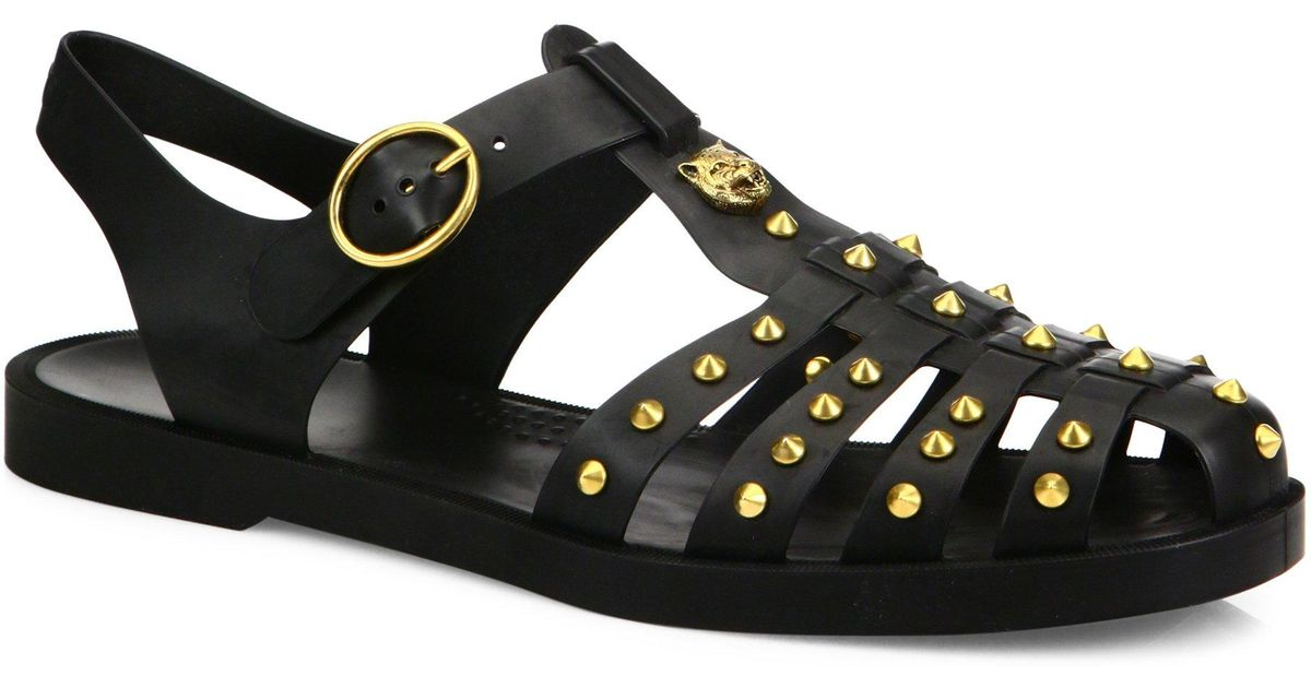 Gucci Rubber Studded Fisherman Sandals