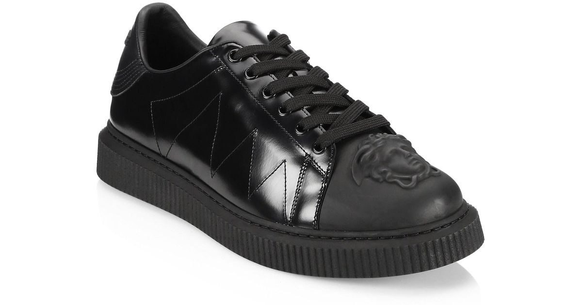 Versace Medusa Leather Nyx Sneakers in