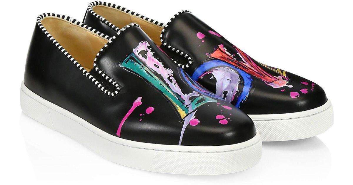 big sale 3f98f 9b84f Christian Louboutin Blue Loubi Love Leather Sneakers