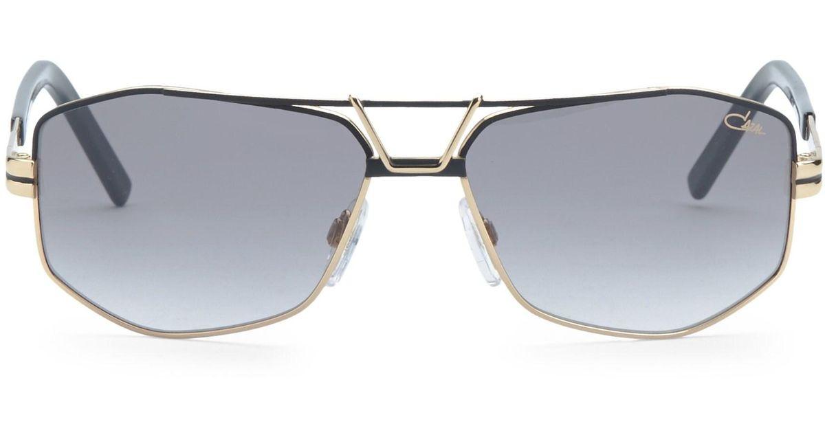 3010fbb8bc Lyst - Cazal Men s 61mm Modified Aviator Sunglasses - Black in Black for Men