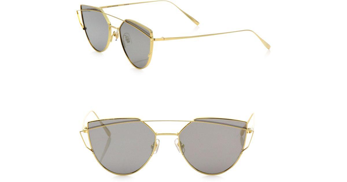 064bd3e965 Lyst - Gentle Monster Love Punch 55mm Mirrored Cat Eye Sunglasses in  Metallic
