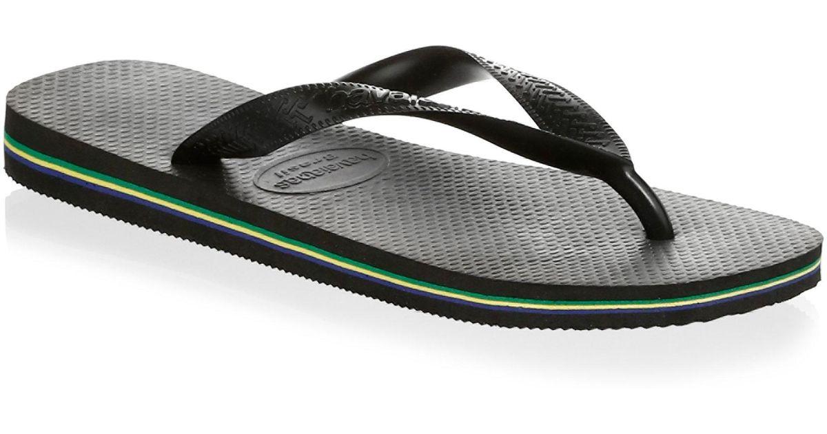 d12ea129d8f1 Lyst - Havaianas Brazil Steel Slides in Black