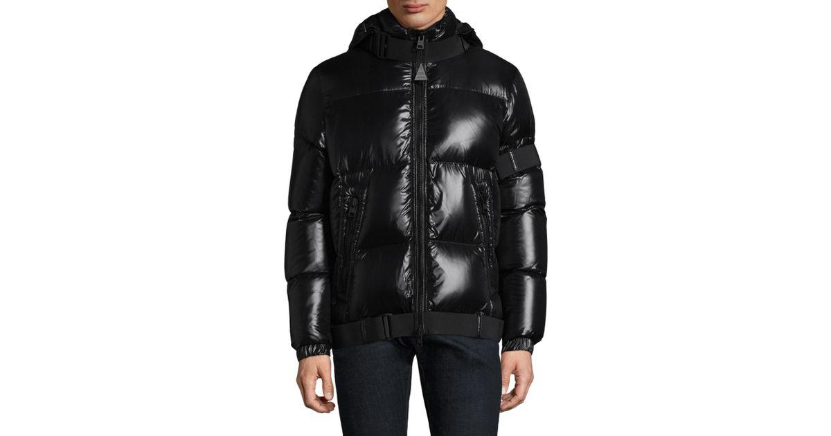 9323129c9 Moncler Black Brook Hooded Puffer Jacket for men