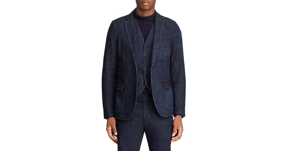 18182e1e Polo Ralph Lauren Blue Men's Morgan Denim Sport Coat - Hunter Navy - Size  40 R for men
