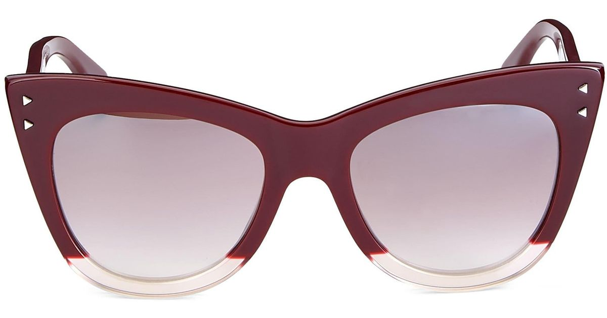 dbea3d396547b Fendi Women s 52mm Two-tone Cat Eye Sunglasses - Burgundy in Purple - Lyst