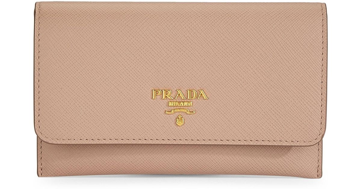 1d969bf9121c Prada Saffiano Leather Passport Holder And Card Case - Lyst