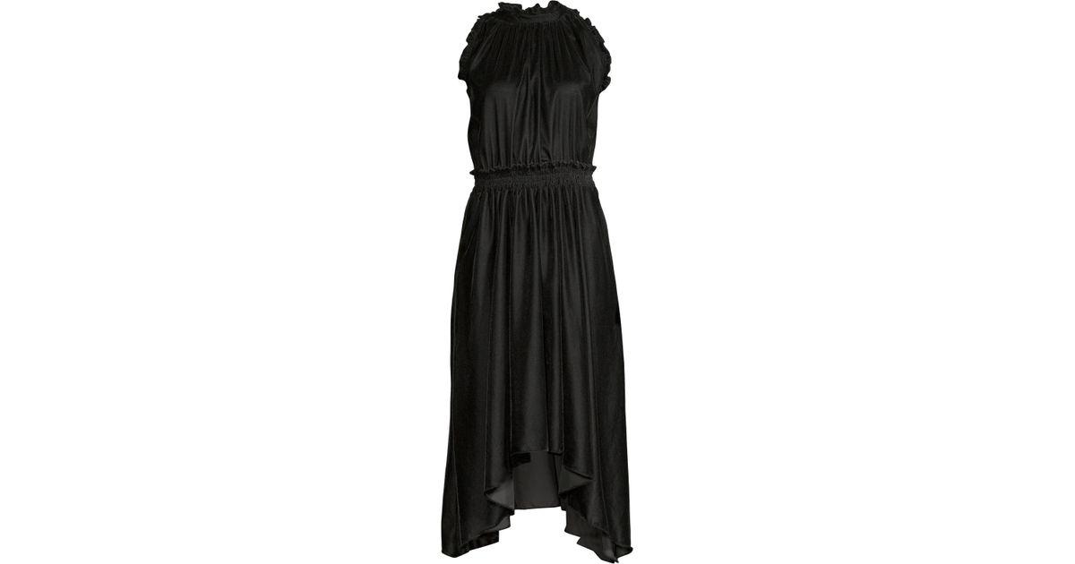 Lourdes Shoshanna In Black Midi Lyst Dress kXPlZuwiOT