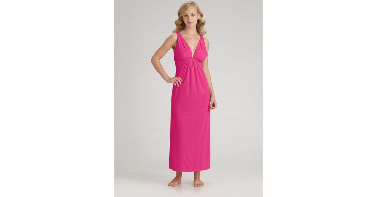 Lyst - Natori Aphrodite Gown in Purple