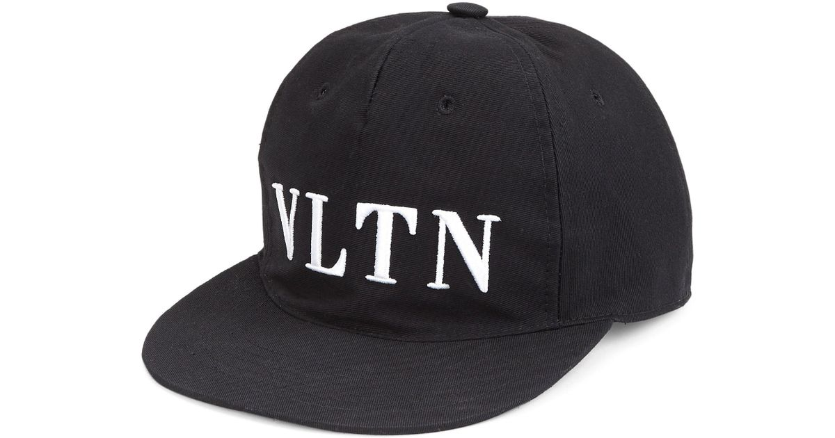 64e0260f2 Lyst - Valentino Vltn Baseball Cap in Black for Men - Save 64%