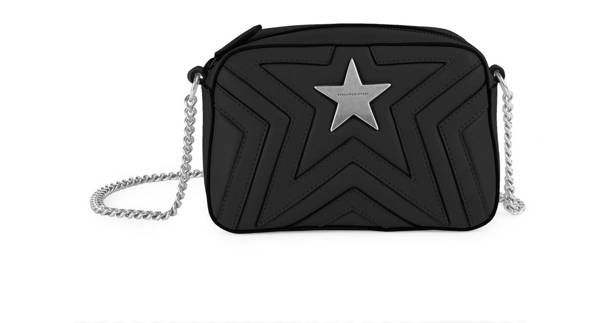 aabae55912d9 Stella Mccartney Mini Stella Star Studded Crossbody Bag in Black - Lyst