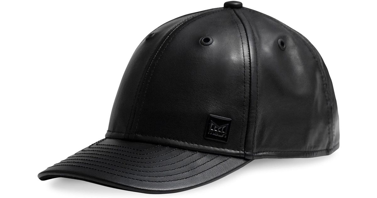 official photos 15b7b d5a2a Lyst - Melin The Voyage Leather Baseball Hat in Black for Men