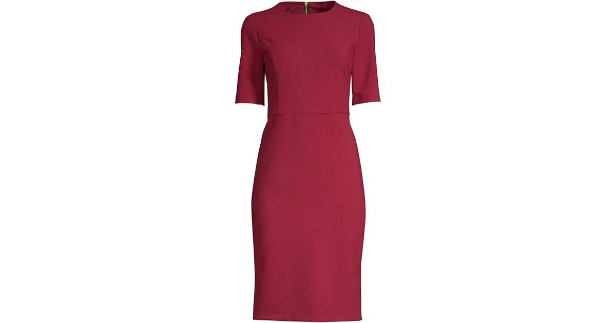 32cf52f2 Lyst - Trina Turk Women's Diamante Cap Sleeve Sheath Dress - Garnet - Size  2 in Red