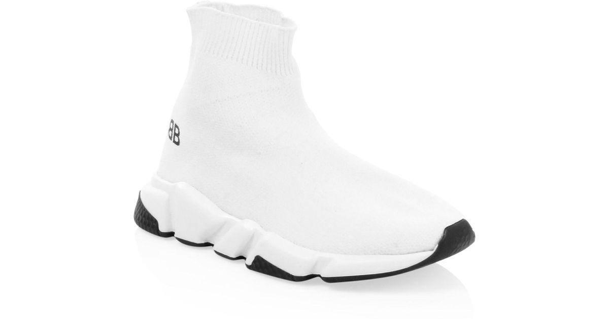 Balenciaga Kid's Sock Sneakers - White