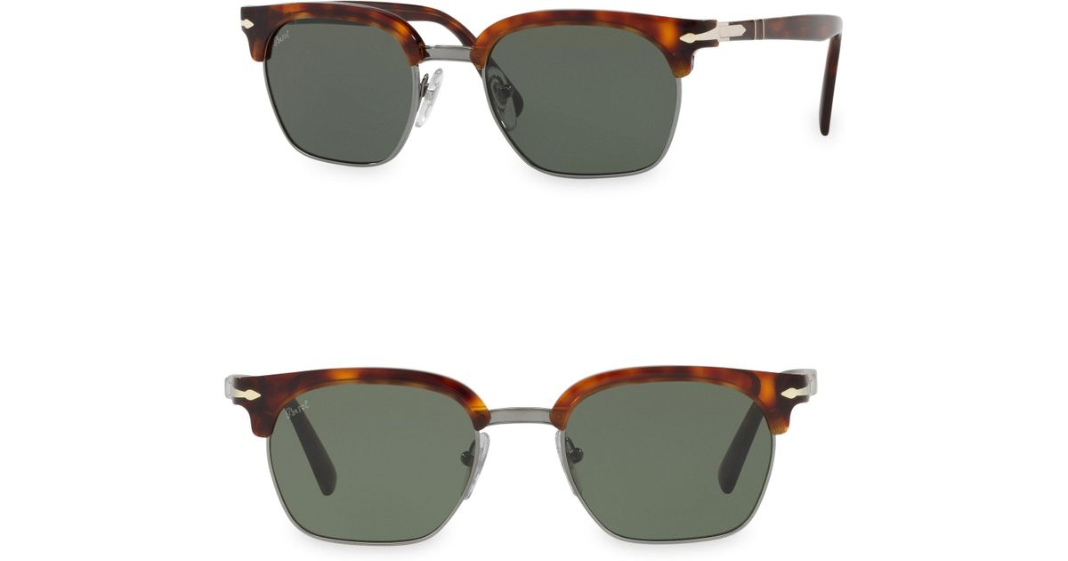 40eb82c878 Persol Tailoring Edition Clubmaster Tortoise Sunglasses in Green for Men -  Lyst