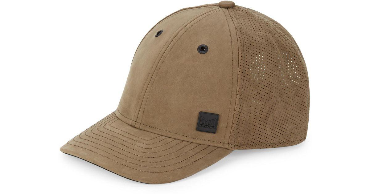 timeless design a2066 9d531 ... snapback baseball cap in black 61e23 b97c2  coupon code for melin  voyage elite leather cap in brown for men lyst 54cbd b7c0d