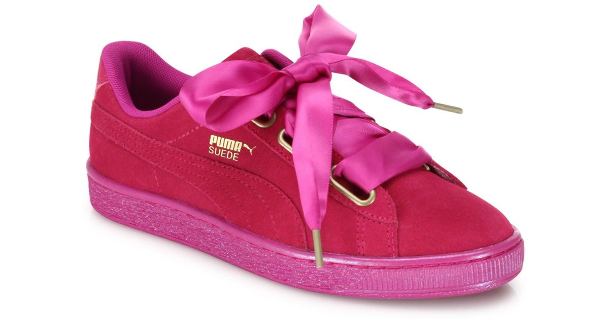 PUMA Women's Shoes PUMA Basket Heart Suedeand Satin