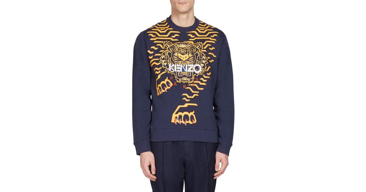 Kenzo Sweatshirt Blue Lyst Geo For Tiger Classic In Men WEDIH29Y
