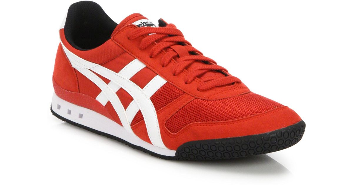 best website 28f04 0c14a Onitsuka Tiger Red Ultimate 81 Mesh Sneakers for men