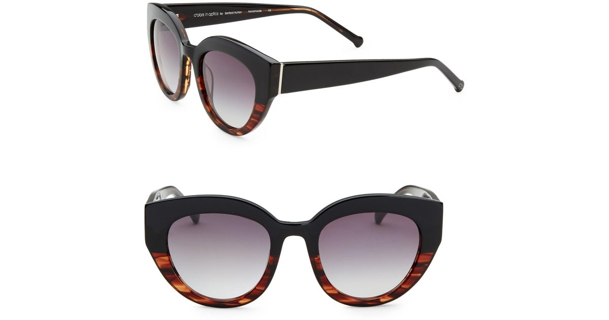 af7391f659d Lyst - Colors In Optics Women s Carnavale Thick Plastic Cat Eye Sunglasses  - Red in Black