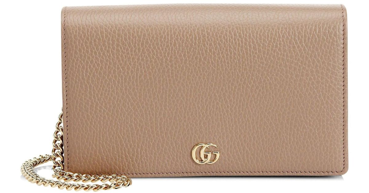 351c267caac2 Lyst - Gucci Petite Marmont Wallet On Chain