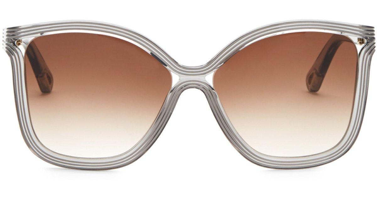 9104a824 Chloé Gray Women's 58mm Rita Soft Square Sunglasses - Grey