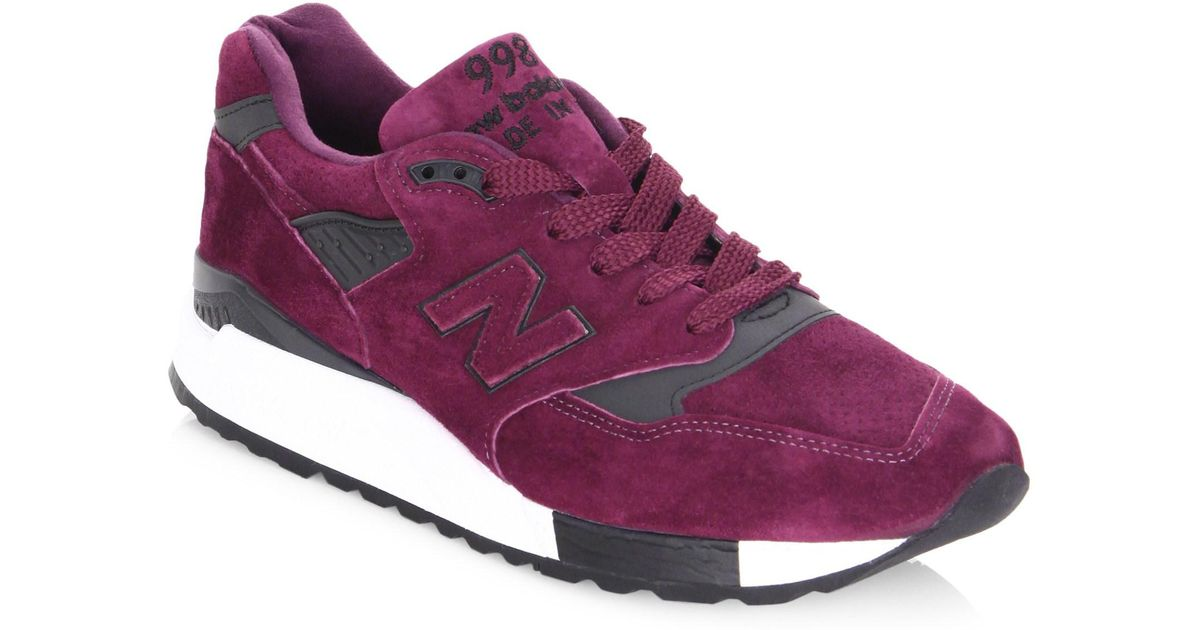 New Balance Purple 998 Suede Sneakers for men