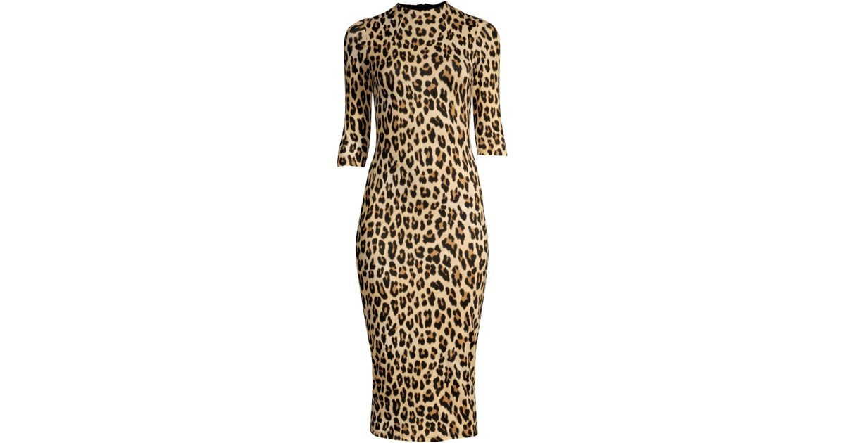 0a8fa4fe296d Alice + Olivia Women's Delora Leopard Print Bodycon Dress - Textured Leopard  - Lyst