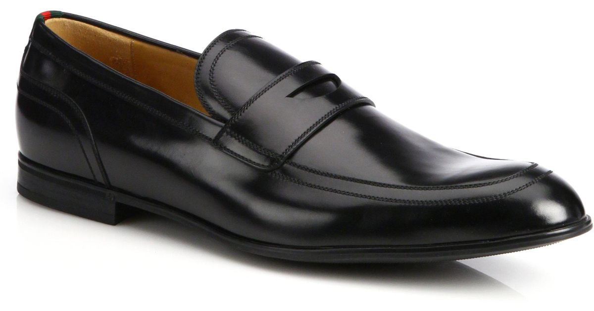 3873aa74ade Lyst - Gucci  ravello  Penny Loafer in Black for Men
