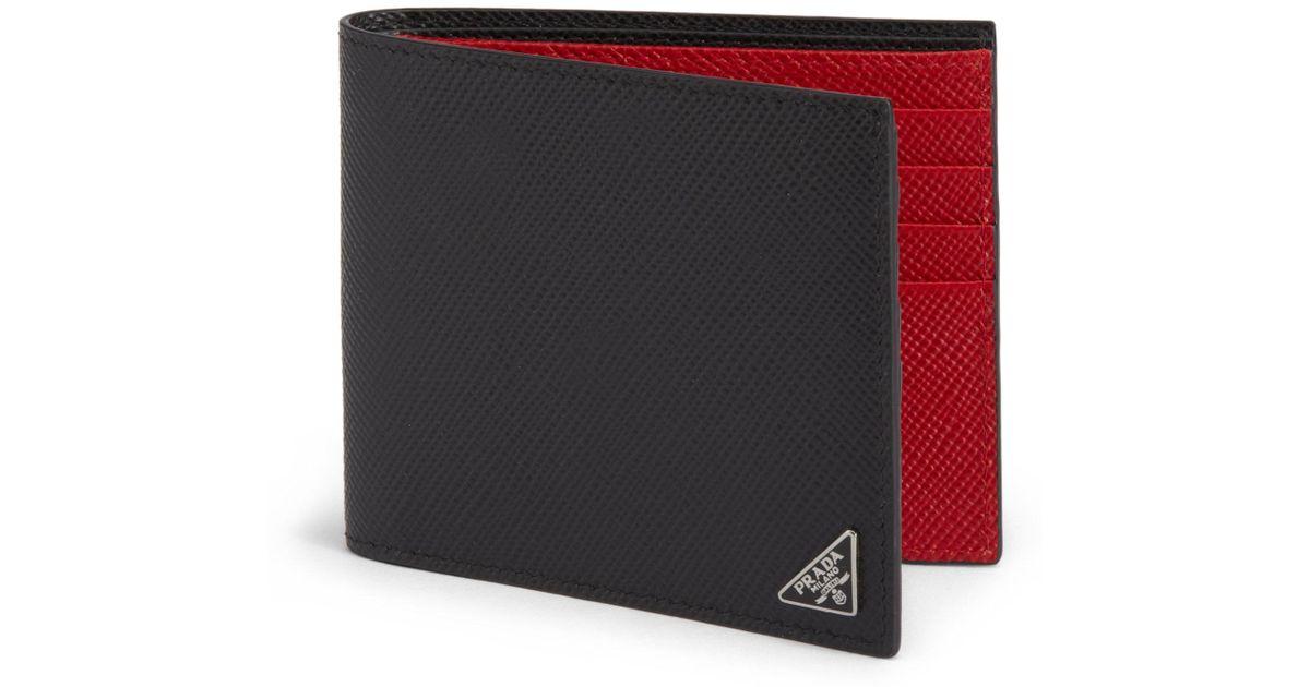 ... aliexpress lyst prada saffiano cuir billfold wallet in black for men  bb824 5c3e1 24bc79f1af1f2